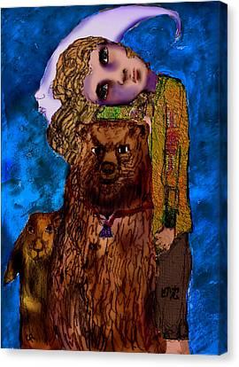 1984 Canvas Print - I Fell by Cynthia Richards