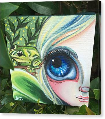 Fantasy Canvas Print - I Finished The Little Frog Fairy. I by Jaz Higgins