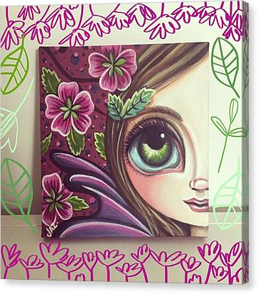 Fantasy Canvas Print - I Finished This Little Fairy This by Jaz Higgins
