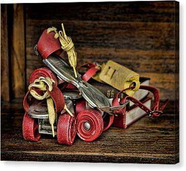 Rollerskate Canvas Print - I Got A Brand New Pair Of Roller Skates by Heather Applegate