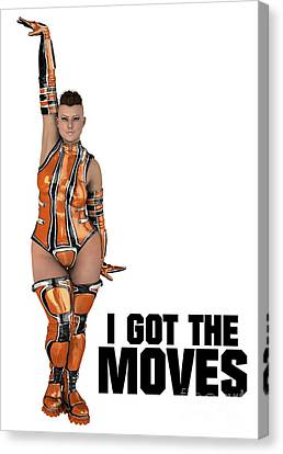 I Got The Moves Canvas Print by Esoterica Art Agency