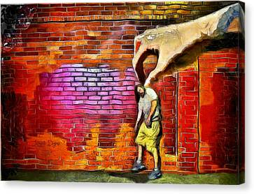 Indoors Canvas Print - I Got You - Da by Leonardo Digenio