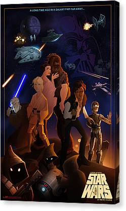 Canvas Print featuring the digital art I Grew Up With Starwars by Nelson Dedos  Garcia