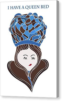 I Have A Queen Bed Canvas Print by Frank Tschakert