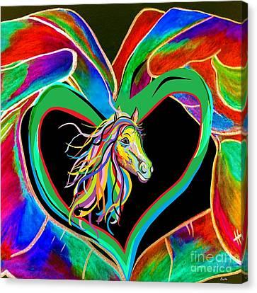 I Heart My Horse Canvas Print by Eloise Schneider