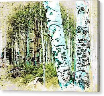Flagstaff Canvas Print - I Heart Tigger by Arne Hansen