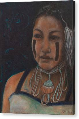 Canvas Print featuring the painting I Hold The Knowledge Inside by Carla Woody