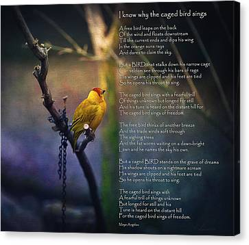 I Know Why The Caged Bird Sings By Maya Angelou Canvas Print