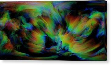 Show Sum Spinal Nebula Canvas Print by Betsy Knapp