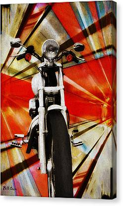 I Like Bikes Canvas Print by Bill Cannon