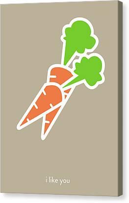 I Like You My Carrot. Canvas Print