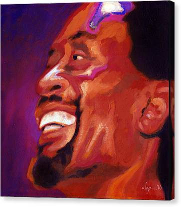 Canvas Print featuring the painting I Love Bobby Mcferrin by Angela Treat Lyon