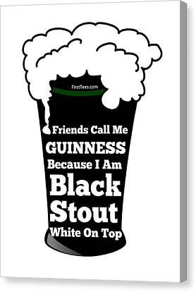 I Love Guinness  Canvas Print by FirstTees Motivational Artwork