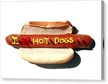 I Love Hot Dogs Canvas Print by Michael Ledray