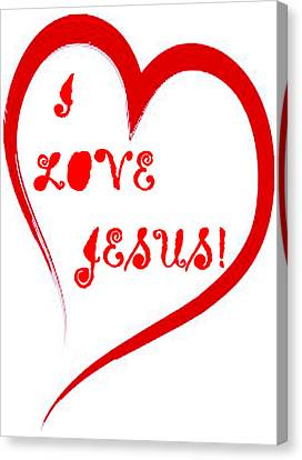 I Love Jesus Canvas Print