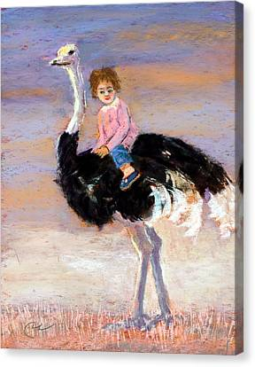 I Love My Very Own Ostrich Canvas Print by Cheryl Whitehall