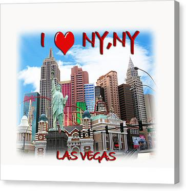 I Love Ny Ny Canvas Print by Gravityx9  Designs