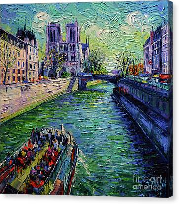 I Love Paris In The Springtime Canvas Print by Mona Edulesco