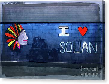 I Love Squan  Canvas Print by Colleen Kammerer