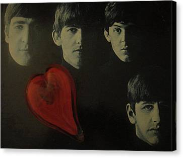 I Love The Early Beatles Music Canvas Print