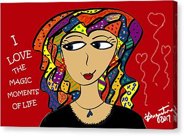 Lead The Life Canvas Print - I Love The Magic Moments Of Life by Sharon Augustin