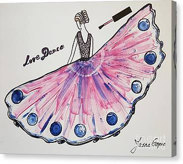 I Love To Dance Canvas Print by Jasna Gopic
