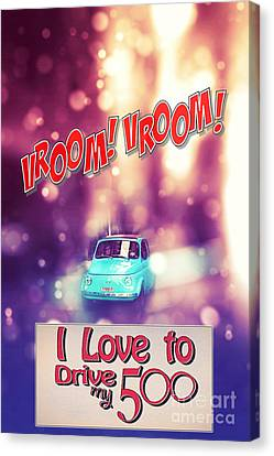 I Love To Drive My 500 Canvas Print by Stefano Senise
