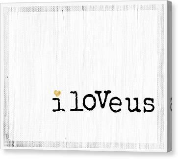 I Love Us Minimalist Wall Art Print Canvas Print by WALL ART and HOME DECOR