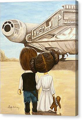 Stars Canvas Print - I Love You     I Know by Al  Molina