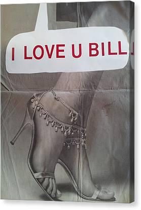 Concern Canvas Print - I Love You Bill 5 by William Douglas