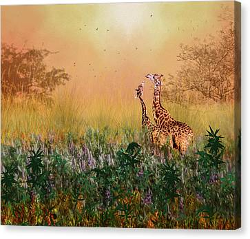I Love You Mom Canvas Print by Diane Schuster