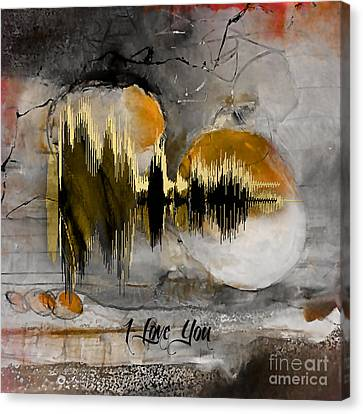 I Love You Sound Wave Canvas Print by Marvin Blaine