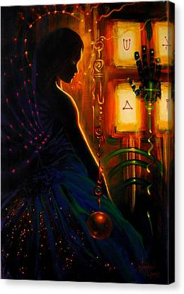 I Marry Your Mind To Lights Window Canvas Print by Stephen Lucas