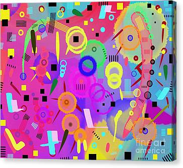Canvas Print featuring the digital art I Once Was Happy by Silvia Ganora