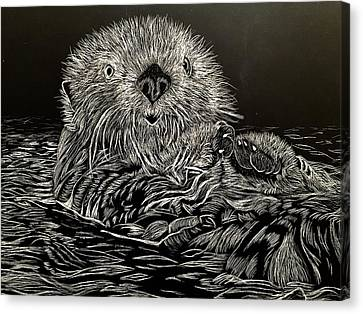 I Otter Be Yours Canvas Print by Brenda Brown