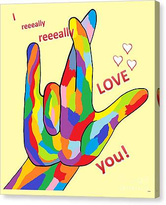 I Really Really Love You Canvas Print by Eloise Schneider