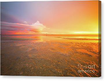 I Saw Angels Dancing In The Sky, Long Exposure Sunset Canvas Print by Felix Lai