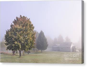 Autumn Landscape Canvas Print - I Scent The Morning Air by Evelina Kremsdorf