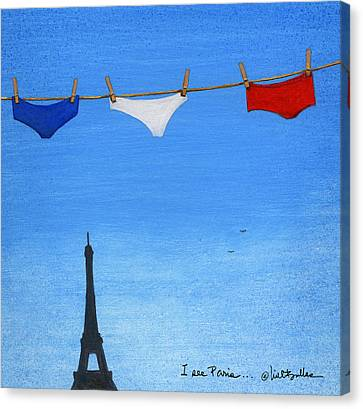 Canvas Print featuring the painting I See Paris... by Will Bullas
