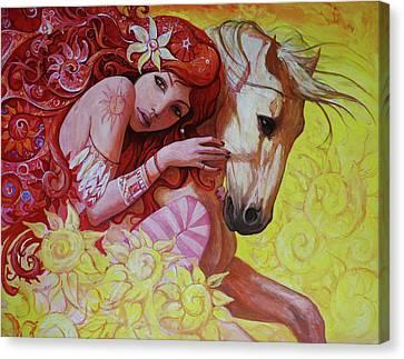 I Simply Bloom In Sunny Days Canvas Print by Adrian Borda