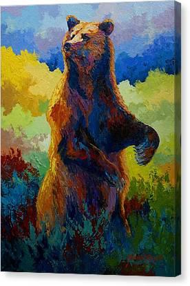 I Spy - Grizzly Bear Canvas Print