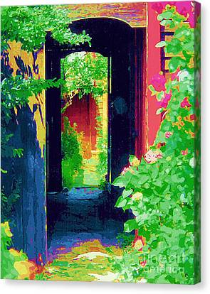 I Stand At The Door And Knock Canvas Print