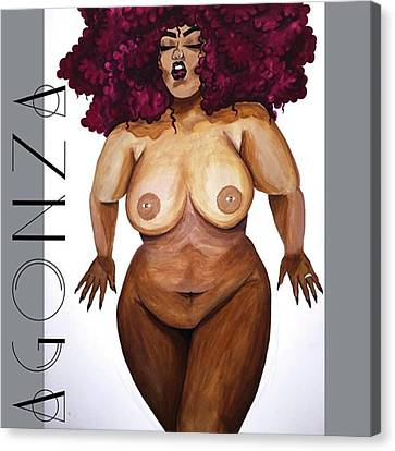 Nudes Canvas Print - I Think I'm Finished Lol #thickgirls by AGONZA Art