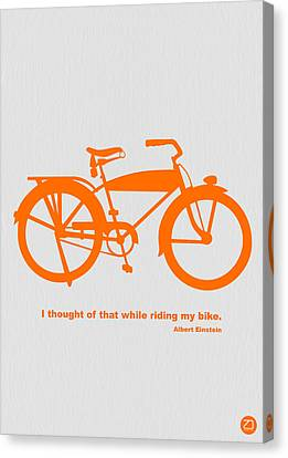 I Thought Of That While Riding My Bike Canvas Print by Naxart Studio