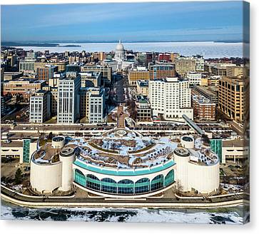 Canvas Print featuring the photograph I Took The Isthmus by Randy Scherkenbach