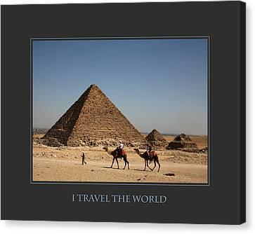 I Travel The World Cairo Canvas Print