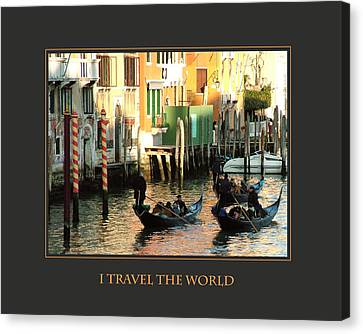 I Travel The World Venice Canvas Print by Donna Corless
