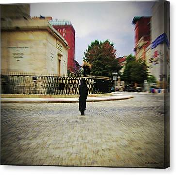 Canvas Print featuring the photograph I Walk Alone by Brian Wallace