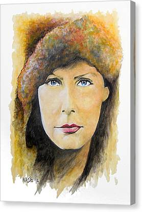 I Want To Be Alone - Garbo Canvas Print by William Walts
