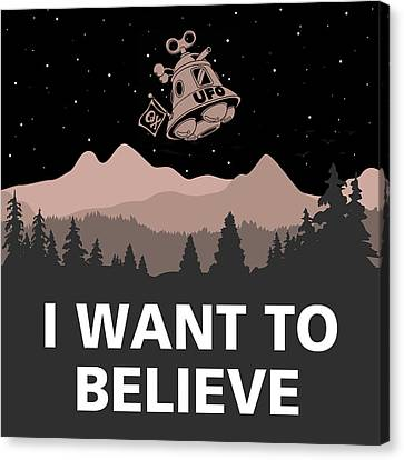 Canvas Print featuring the digital art I Want To Believe by Gina Dsgn